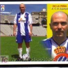 Cromos de Fútbol: EDICIONES ESTE 2002/2003 - DE LA PEÑA ( COLOCA-VERSIÓN B ) - R.C.D. ESPANYOL. ALBUM ESTE 02/03 ( ). Lote 158559717