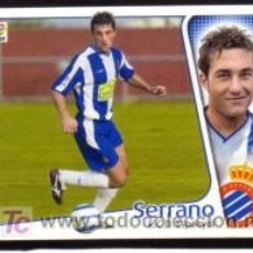 Cromos de Fútbol: EDICIONES ESTE 2004/05 - ÚLTIMO FICHAJE 17 - SERRANO - RCD. ESPANYOL. ALBUM ESTE 04/05 ( ). Lote 16734979