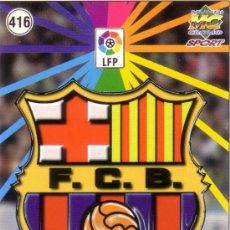 Cromos de Fútbol: FÚTBOL. CROMO. F. C. BARCELONA B 98/99. ESCUDO Y EQUIPO. NUEVO.. Lote 24891195