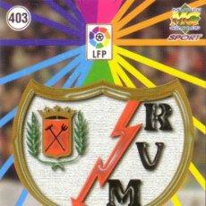 Cromos de Fútbol: FÚTBOL. CROMO. RAYO VALLECANO 98/99. ESCUDO Y EQUIPO. NUEVO.. Lote 24910279