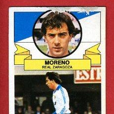 Cromos de Fútbol: CROMO FUTBOL, MORENO DEL ZARAGOZA , LIGA 85-86 1985-1986 , ESTE ,C428. Lote 23782312