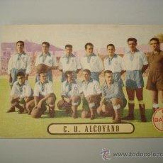 Cromos de Fútbol: POSTAL CROMO DEL C.D. ALCOYANO AÑOS 40 CUANDO ESTABA EN 1ª DIVISION ,PROPAGANDA DE BAYER. Lote 17646646