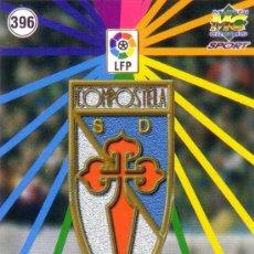 Cromos de Fútbol: FÚTBOL. CROMO. S. D. COMPOSTELA 98/99. ESCUDO Y EQUIPO. NUEVO.. Lote 23959025