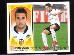 EDICIONES ESTE 2009/2010 – JORDI ALBA ( COLOCA ) - VALENCIA CF ( NUNCA PEGADO ). ALBUM 09/10 () (Coleccionismo Deportivo - Álbumes y Cromos de Deportes - Cromos de Fútbol)