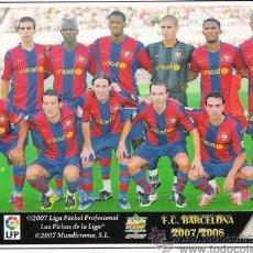Cromos de Fútbol: 1 CROMO MUNDICROMO FICHAS LIGA 07-08 ( 2007-2008 ) - F.C BARCELONA - Nº 29 - ALINEACION. Lote 19162553