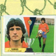 Cromos de Fútbol: ED. ESTE 87 - 88 / SABIDO (OSASUNA) + MANZANEDO (SABADELL). Lote 19181996