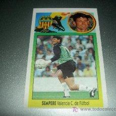 Cromos de Fútbol: CROMO SEMPERE VALENCIA CROMOS ALBUM EDICIONES ESTE LIGA FUTBOL 1993-1994 93-94 . Lote 19418075
