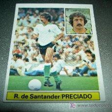 Cromos de Fútbol: CROMO PRECIADO RACING SANTANDER CROMOS ALBUM EDICIONES ESTE LIGA FUTBOL 1981-1982 81-82. Lote 118956495