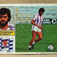 Cromos de Fútbol: CROMO, FUTBOL, LIGA 82 - 83, REAL VALLADOLID, GARCIA NAVAJAS, EDICIONES ESTE, NUNCA PEGADO, ULTIMOS . Lote 19801081