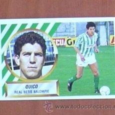 Cromos de Fútbol: BETIS - QUICO - BAJA - EDICIONES ESTE 1988-89, 88-89 - CROMO NUNCA PEGADO. Lote 53257048