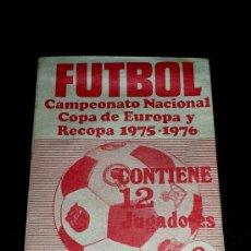 Cromos de Fútbol: VARIANTE SOBRE VACÍO CROMOS ALBUM FÚTBOL, ED. RUIZ ROMERO, CAMPEONATO NACIONAL LIGA 1975-1976.... Lote 152690228