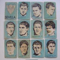 Cromos de Fútbol: 13 CROMOS FUTBOL - SEVILLA C.F. - CHOCOLATES EL LINCE Y MADAM - AÑO 1951. Lote 20838751
