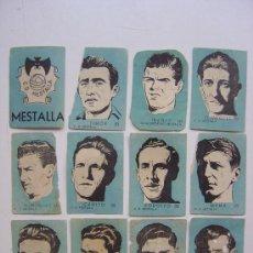 Cromos de Fútbol: 12 CROMOS FUTBOL - C.D. MESTALLA - CHOCOLATES EL LINCE Y MADAM - AÑO 1951........COMPLETO. Lote 20838861