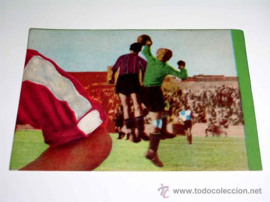 CROMO FÚTBOL Nº 4 GERMÁN, AT. AVIACIÓN, CROMOS VENCEDOR, ED BRUGUERA, CRISOL, ORIGINAL 1944-45 (Coleccionismo Deportivo - Álbumes y Cromos de Deportes - Cromos de Fútbol)