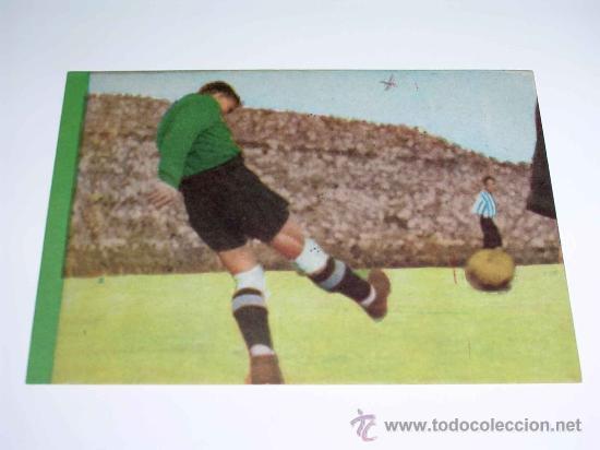 CROMO FÚTBOL Nº 12 GERMÁN, AT. AVIACIÓN, CROMOS VENCEDOR, ED BRUGUERA, CRISOL, ORIGINAL 1944-45 (Coleccionismo Deportivo - Álbumes y Cromos de Deportes - Cromos de Fútbol)