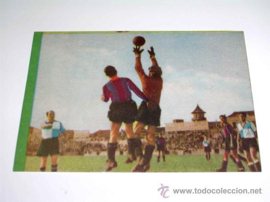 CROMO FÚTBOL Nº 15 GERMÁN, AT. AVIACIÓN, CROMOS VENCEDOR, ED BRUGUERA, CRISOL, ORIGINAL 1944-45 (Coleccionismo Deportivo - Álbumes y Cromos de Deportes - Cromos de Fútbol)