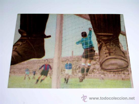 CROMO FÚTBOL Nº 17 GERMÁN, AT. AVIACIÓN, CROMOS VENCEDOR, ED BRUGUERA, CRISOL, ORIGINAL 1944-45 (Coleccionismo Deportivo - Álbumes y Cromos de Deportes - Cromos de Fútbol)