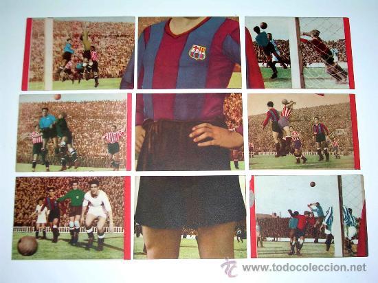 Cromos de Fútbol: Sobre original + 9 cromos Barcelona C.F.,Fútbol Cromos Vencedor, Ed Bruguera, Crisol, año 1944-45 - Foto 4 - 27605829