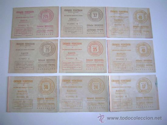 Cromos de Fútbol: Sobre original + 9 cromos Barcelona C.F.,Fútbol Cromos Vencedor, Ed Bruguera, Crisol, año 1944-45 - Foto 5 - 27605829