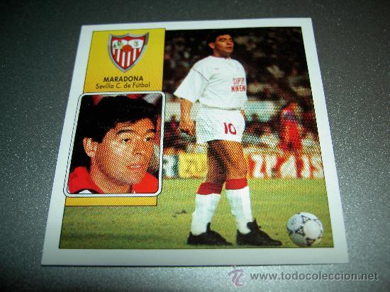 CROMO COLOCA MARADONA SEVILLA CROMOS ALBUM EDICIONES ESTE LIGA FUTBOL 1992 1993 92 93 (Coleccionismo Deportivo - Álbumes y Cromos de Deportes - Cromos de Fútbol)