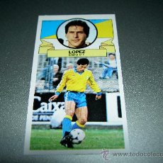 Cromos de Fútbol: CROMO BAJA LOPEZ CADIZ CROMOS ALBUM EDICIONES ESTE LIGA FUTBOL 1985-1986 85-86 . Lote 24922613