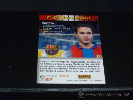 MEGACRACKS 2004/05 – 67 INIESTA - FC. BARCELONA - 04/05 ( ) (Coleccionismo Deportivo - Álbumes y Cromos de Deportes - Cromos de Fútbol)