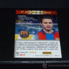 Cromos de Fútbol: MEGACRACKS 2004/05 – 67 INIESTA - FC. BARCELONA - 04/05 ( ). Lote 131249827