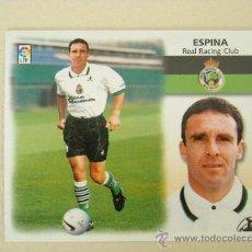 Cromos de Fútbol: ESTE 99-00 FICHAJE Nº 7 ESPINA RACING SANTANDER 1999-2000 NUEVO. Lote 30398867