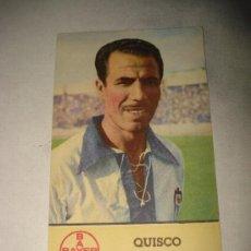 Cromos de Fútbol: CROMO GIGANTE TAMAÑO POSTAL DE QUISCO DEL C.D. ALCOYANO DE BAYER.SUPERRARO.AÑO 1940S.. Lote 24710427