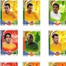 Cromos de Fútbol: COLECCION COMPLETA FICHAS BASICAS MATCH ATTAX ESTRELLAS MUNDIALES SUDAFRICA 2010 (121 FICHAS). Lote 23804003