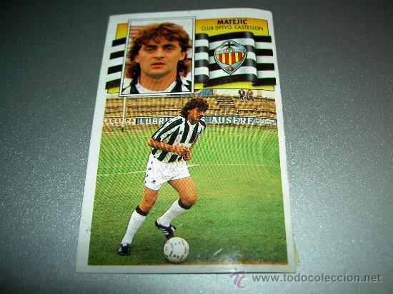 CROMO FICHAJE 32 MATEJIC CASTELLON CROMOS ALBUM EDICIONES ESTE LIGA FUTBOL 1990-1991 90-91 (Coleccionismo Deportivo - Álbumes y Cromos de Deportes - Cromos de Fútbol)