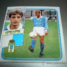 Cromos de Fútbol: CROMO BAJA LOPEZ LOPEZ OVIEDO CROMOS ALBUM EDICIONES ESTE LIGA FUTBOL 1989-1990 89-90 . Lote 26895668