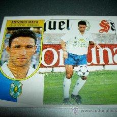 Cromos de Fútbol: CROMO FICHAJE 36 ANTONIO MATA TENERIFE CROMOS ALBUM LIGA FUTBOL EDICIONES ESTE 1991 1992 91 92. Lote 27462381