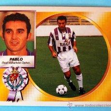 Cromos de Fútbol: EDICIONES ESTE 1994-1995, 94-95 - REAL VALLADOLID DEPORTIVO - PABLO - COLOCA. Lote 37034753