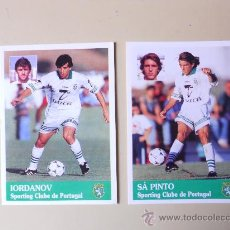Cromos de Fútbol: 2 CROMOS DEL SPORTING DE LISBOA (IORDANOV - SÁ PINTO). FUTEBOL 96/97 DE PANINI.. Lote 25147805