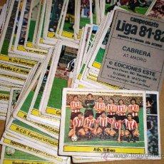 Cromos de Fútbol: LOTE DE 200 CROMOS DIFERENTES ED. ESTE 81/82 * CON FICHAJES Y COLOCAS * TAMBIÉN SUELTOS. Lote 243879185