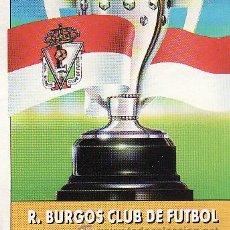Cromos de Fútbol: ESTE -- LIGA 92-93 -- BURGOS -- 8 CROMOS DIFERENTES. Lote 25560451