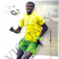 Cartes à collectionner de Football: FICHA CARD EMMANUEL ADEBAYOR REAL MADRID EDICIONES FUTERA. Lote 25670414
