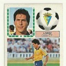 Cromos de Fútbol: LIGA ESTE 83-84 - LOPEZ (CADIZ) VERSION CAMISETA MEYBA. Lote 26304194
