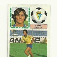 Cromos de Fútbol: LIGA ESTE 83-84 - CHANO (CADIZ) VERSION CAMISETA MEYBA. Lote 26304212