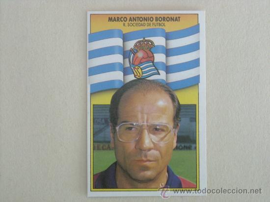 ESTE 90-91 BORONAT REAL SOCIEDAD 1990-1991 NUEVO (Coleccionismo Deportivo - Álbumes y Cromos de Deportes - Cromos de Fútbol)