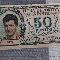 Cromos de Fútbol: ATLETICO MADRID 1952-1953 52-53 FICHA DEPORTIVA INFANTIL SILVA. Lote 26531312