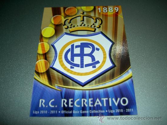 880 ESCUDO MATE RECREATIVO HUELVA CROMOS MUNDICROMO FICHAS LIGA QUIZ GAME 2010-2011 10-11 (Coleccionismo Deportivo - Álbumes y Cromos de Deportes - Cromos de Fútbol)