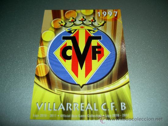 838 ESCUDO MATE VILLARREAL B CROMOS ALBUM MUNDICROMO FICHA LIGA FUTBOL QUIZ GAME 2010 2011 10 11 (Coleccionismo Deportivo - Álbumes y Cromos de Deportes - Cromos de Fútbol)