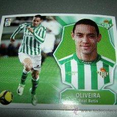 Cromos de Fútbol: FICHAJE COLOCA OLIVEIRA BETIS AMPLIACION INVIERNO ALBUM ESTE CROMOS 2008 2009 08 09 PANINI. Lote 207343591