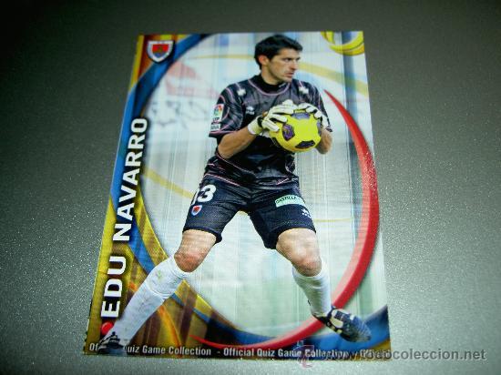 FICHAJE UH 1214 EDU NAVARRO NUMANCIA CROMOS ALBUM MUNDICROMO LIGA FUTBOL QUIZ GAME 2010-2011 10-11 (Coleccionismo Deportivo - Álbumes y Cromos de Deportes - Cromos de Fútbol)