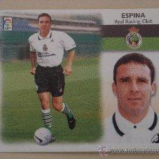 Cromos de Fútbol: ESTE 99-00 FICHAJE Nº 7 ESPINA RACING SANTANDER 1999-2000 . Lote 27810030