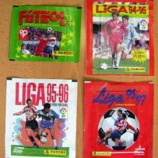 Cromos de Fútbol: 4 SOBRES SIN ABRIR DE PANINI - TEMPORADAS 93-94, 94-95, 95-96, 96-97. Lote 27941648