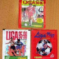 Cromos de Fútbol: 3 SOBRES SIN ABRIR DE PANINI - TEMPORADAS 94-95, 95-96, 96-97. Lote 27905364