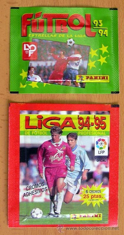 2 SOBRES SIN ABRIR DE PANINI - TEMPORADAS 93-94, 94-95, (Coleccionismo Deportivo - Álbumes y Cromos de Deportes - Cromos de Fútbol)